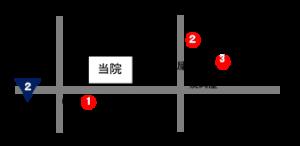 コインパーキング3カ所地図